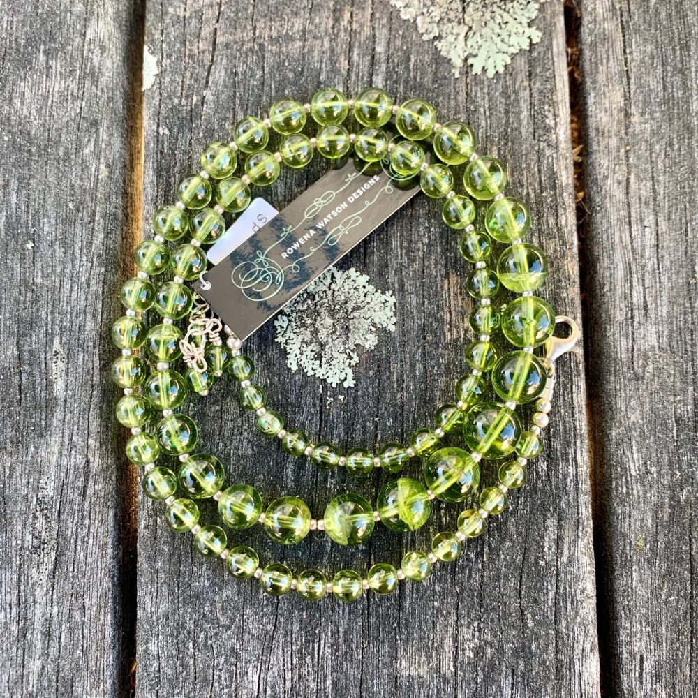 Graduated Peridot Necklace, Rowena Watson Designs