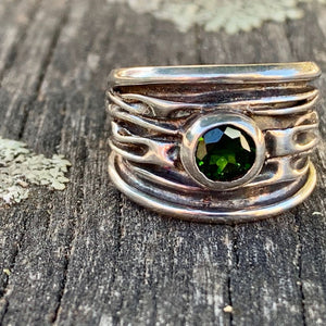Sterling Fold Ring with Chrome Diopside, Rowena Watson Designs