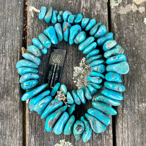 Chinese Turquoise Chunk Necklace, Rowena Watson Designs