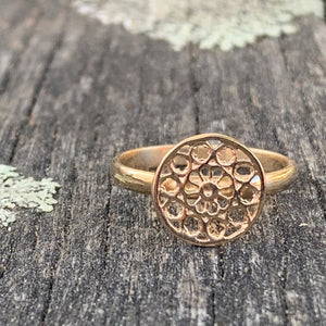9ct Yellow Gold Rose Window Ring, Rowena Watson Designs