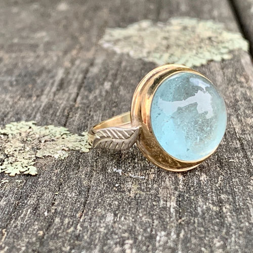 Aquamarine Ring, 9ct Gold, Rowena Watson Designs