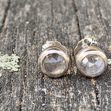 Rose Cut Labradorite Stud Earrings, Rowena Watson Designs