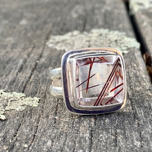 Brazilian Rutilated Quartz Ring, Rowena Watson Designs
