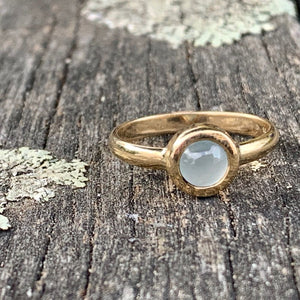 9ct Gold and Aquamarine Ring, Rowena Watson Designs