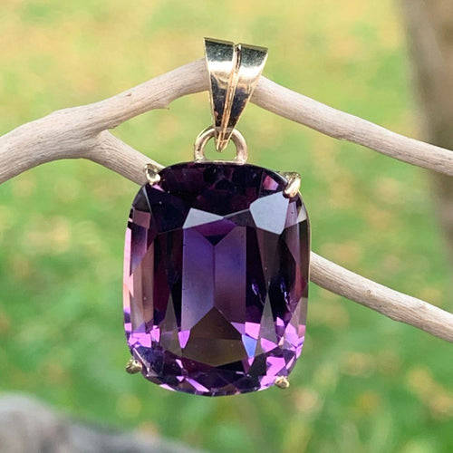 9ct Gold and Afghani Amethyst Pendant, Rowena Watson Designs