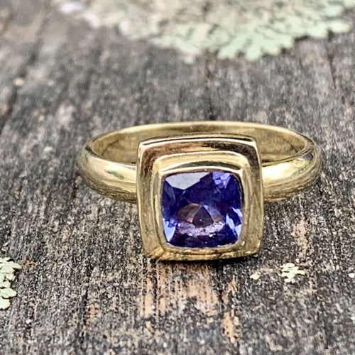 14ct Gold and Tanzanite Ring, Rowena Watson Designs