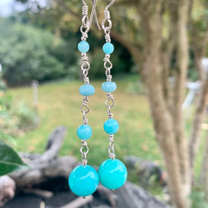 Four Tier Amazonite Earrings, Rowena Watson Designs
