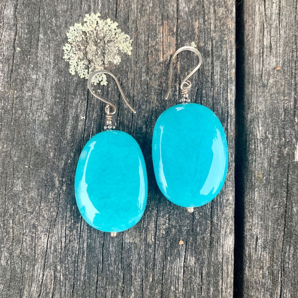 Large Amazonite Earrings, Rowena Watson Designs