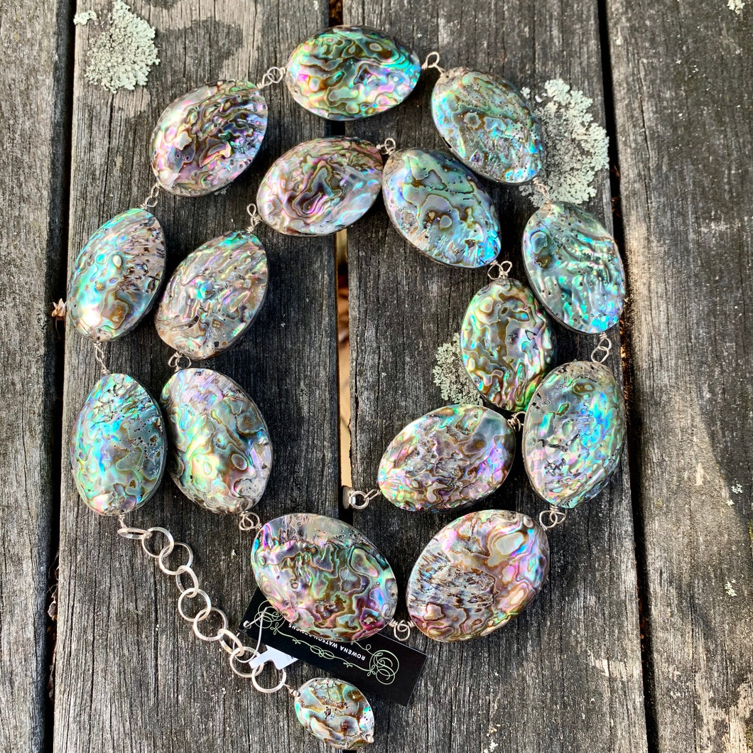 Large Paua Corner Necklace, Rowena Watson Designs