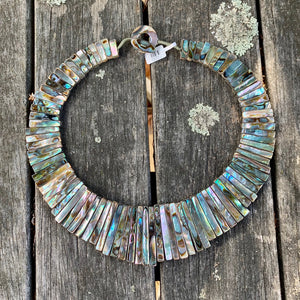Paua Shell Cleopatra Collar Necklace