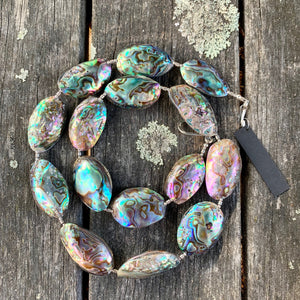 Small Paua Corner Necklace, Rowena Watson Designs