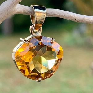 9ct Gold and Brazilian Citrine Pendant, Rowena Watson Designs