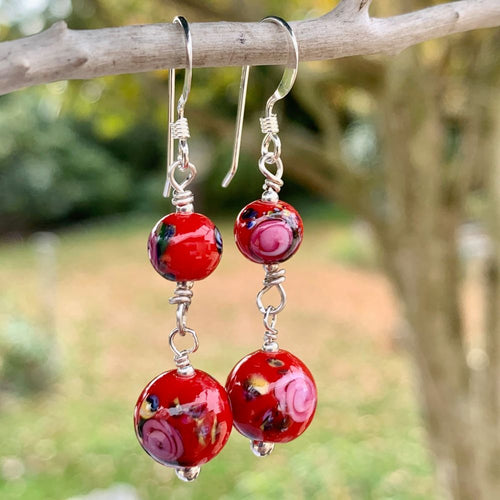Antique Venetian Glass Earrings, Rowena Watson Designs