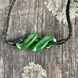 Rau Kumara Bracelet, New Zealand Greenstone