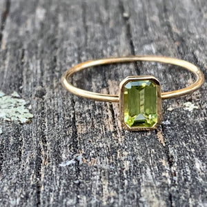 14ct Yellow Gold and Peridot Ring, Rowena Watson Designs