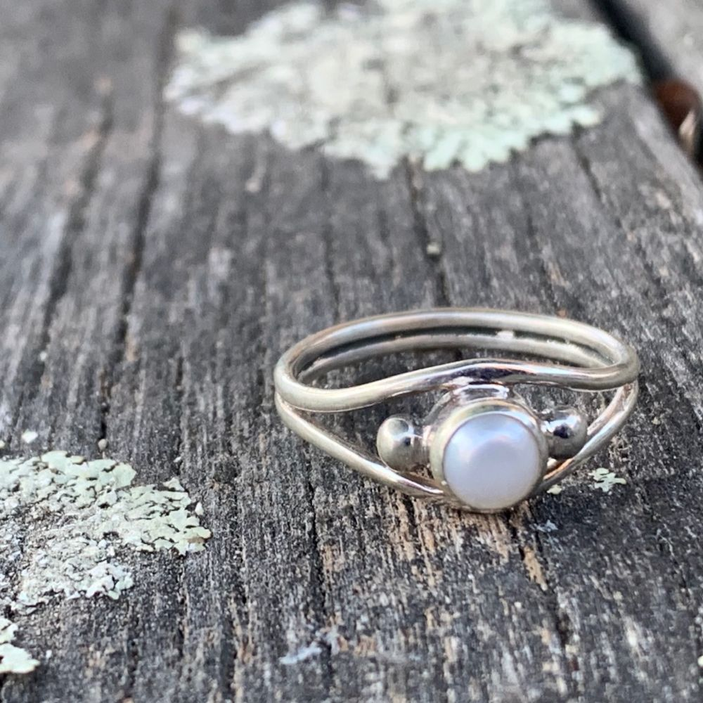 Fresh Water Pearl Ring, Rowena Watson Designs