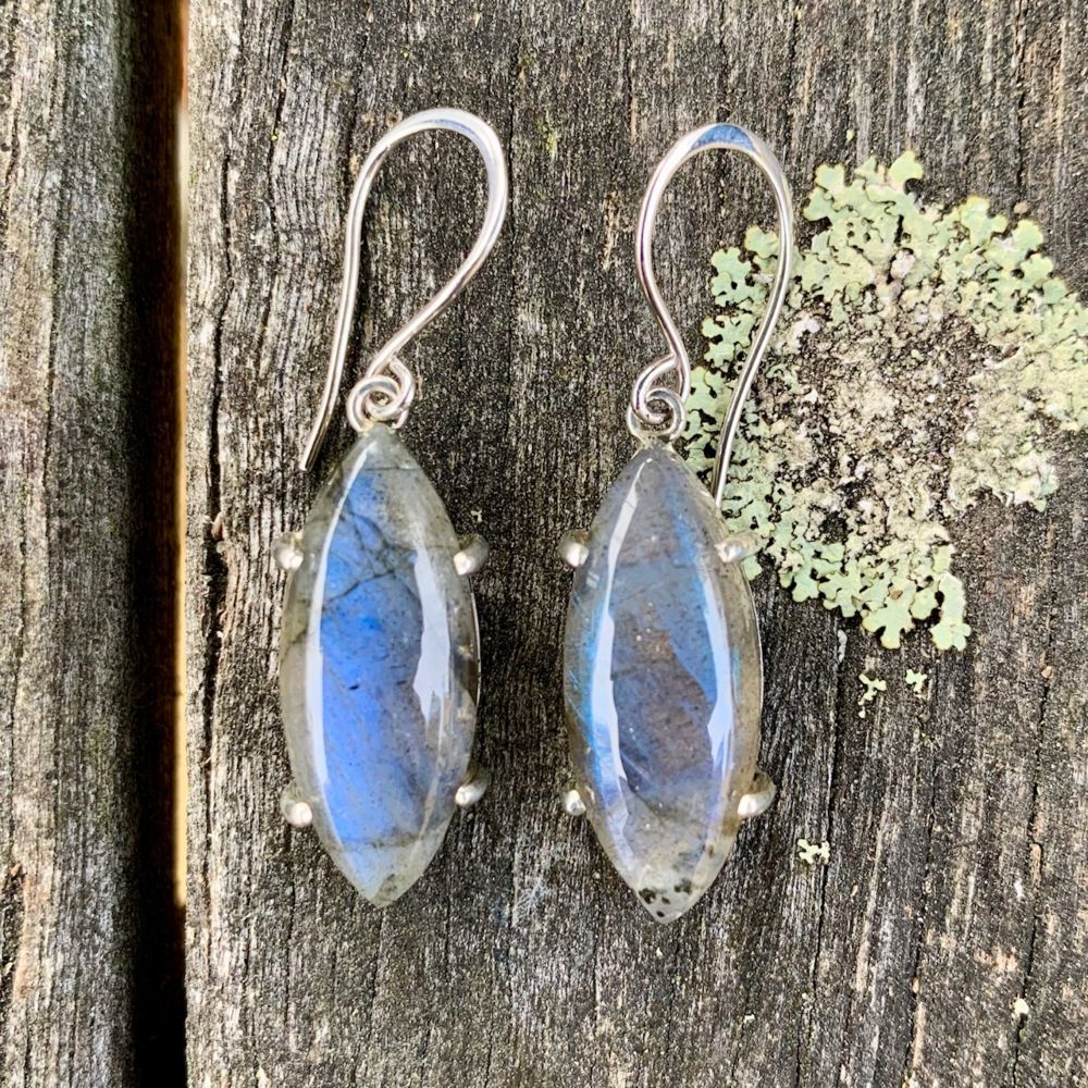Marquise Labradorite Earrings, Rowena Watson Designs