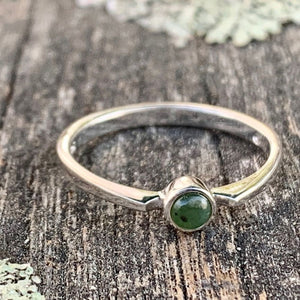 Circle Stacker Ring, New Zealand Greenstone