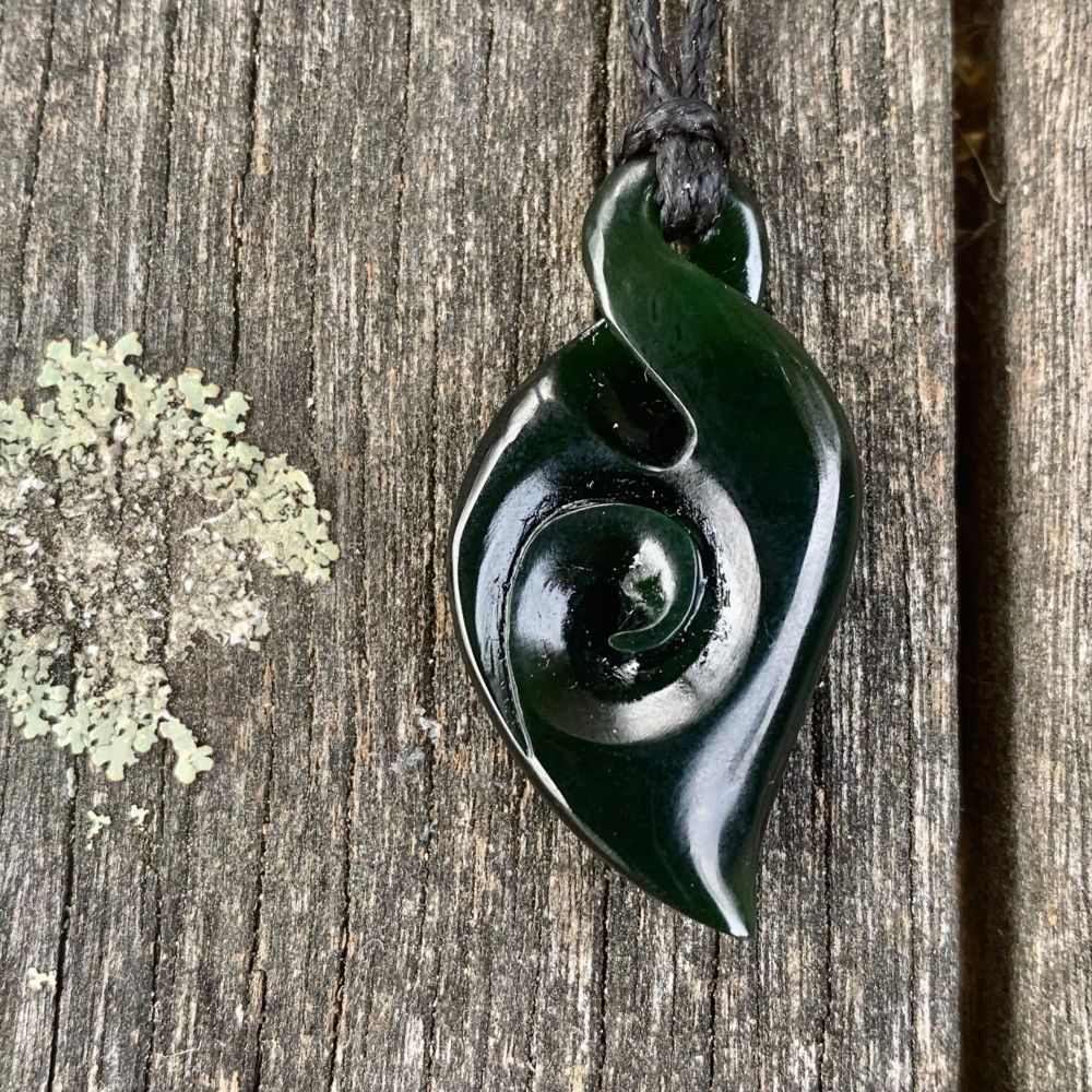 Small Rau Kumara Koru, New Zealand Greenstone