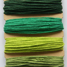Hemp Cord, Emerald Shades, 20lb