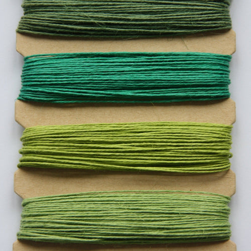 Hemp Cord, Emerald Shades, 10lb