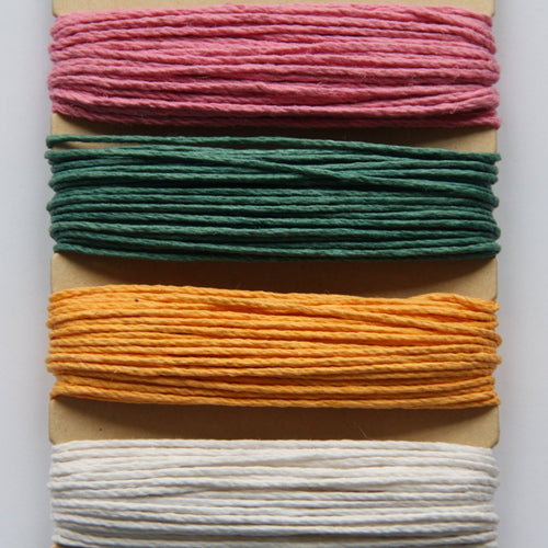 Hemp Cord, Spring Colours, 20lb