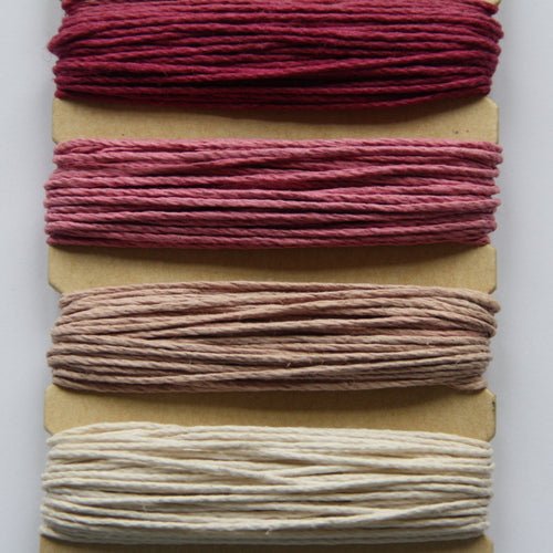 Hemp Cord, Ruby Shades, 20lb