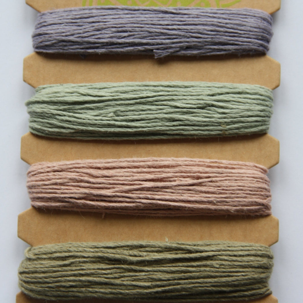 Hemp Cord, Vintage Colours, 20lb
