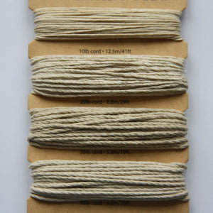 Hemp Cord, Natural Colours