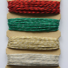 Hemp Cord, Metallic Holiday, 10lb