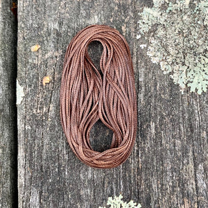 0.8mm Brown Waxed Thread, 5 Metres