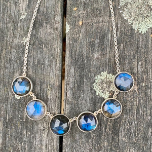 Finnish Labradorite Necklace, Rowena Watson Designs