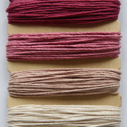 Hemp Cord, Ruby Shades, 10lb