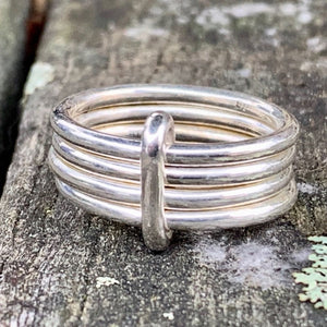 Simple Sterling Silver Unity Spinner Ring, Rowena Watson Designs