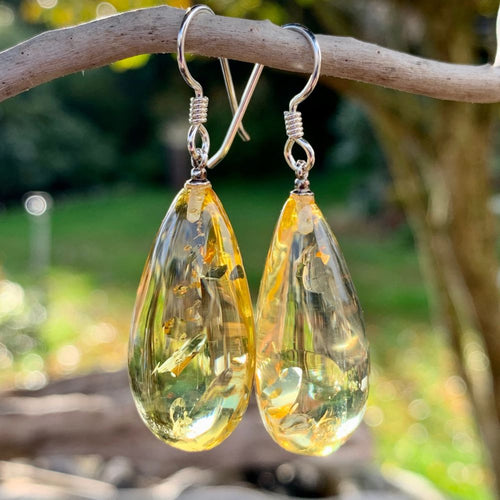 Baltic Amber Drop Earrings, Rowena Watson Designs