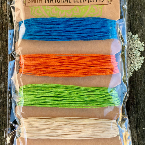 Hemp Cord, Bright Colours, 10lb