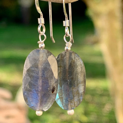 Faceted Labradorite Earrings, Rowena Watson Designs