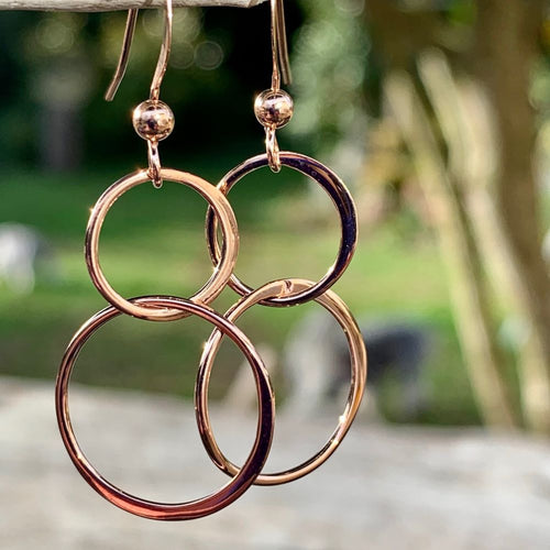 Rose Gold Fill Double Loop Earrings