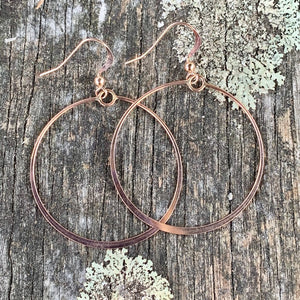 Rose Gold Fill Hoop Earrings