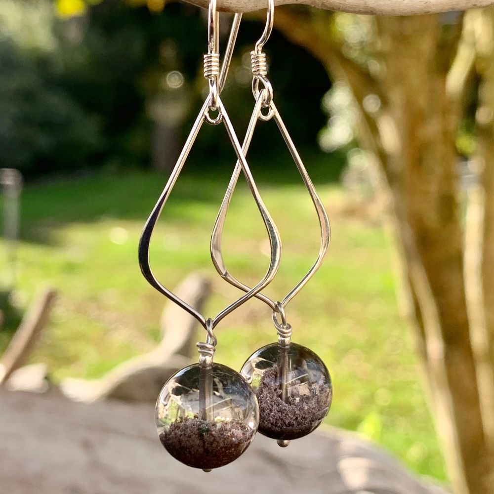 Phantom Quartz Earrings, Rowena Watson Designs