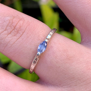 Fine Marquise Tanzanite and Sterling Silver Ring, Rowena Watson Designs