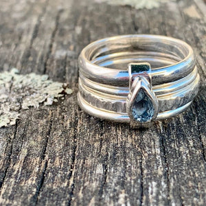 Teardrop Aquamarine Unity Spinner Ring, Rowena Watson Designs