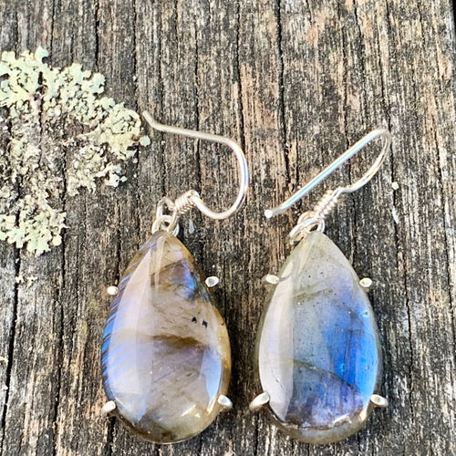 Teardrop Labradorite Earrings, Rowena Watson Designs