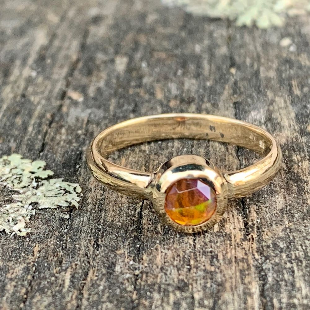 9ct Gold and Mexican Fire Opal Ring, Rowena Watson Designs