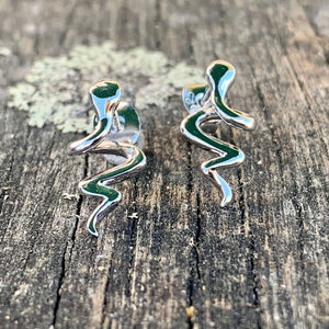 Sterling Silver Snake Stud Earrings