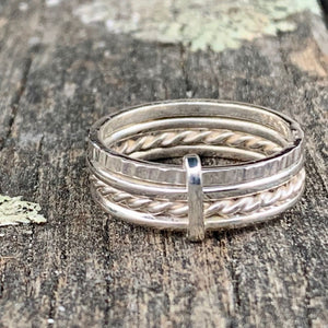 Fine Sterling Silver Unity Spinner Ring, Rowena Watson Designs