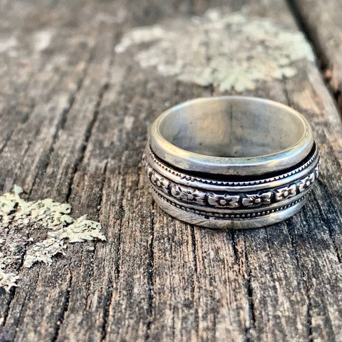 Oxidised Byzantine Spinner Ring, Rowena Watson Designs