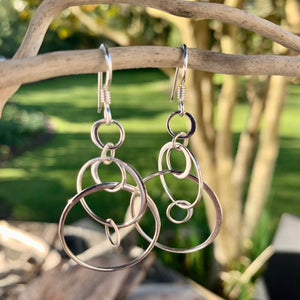 Multi Sterling Silver Hoop Earrings
