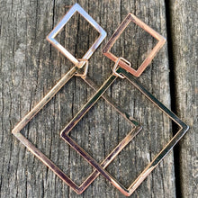 9ct Rose Gold Geometric Earrings, Rowena Watson Designs