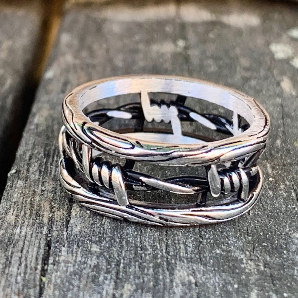 Sterling Silver Barbed Wire Ring